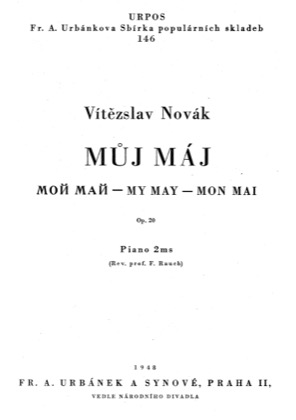 Thumbnail of first page of My May, Op.20 piano sheet music PDF by Novak.