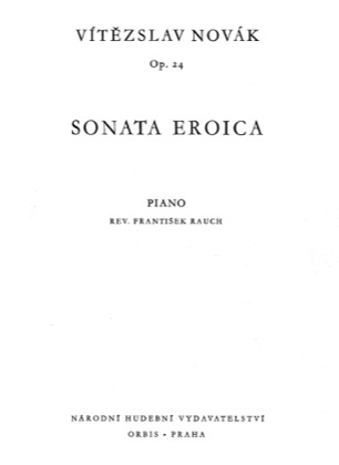 Thumbnail of first page of Sonata Eroica, Op.24 piano sheet music PDF by Novak.
