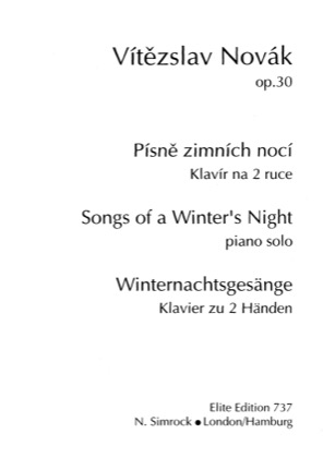 Thumbnail of first page of Songs of a Winter's Night, Op.30 piano sheet music PDF by Novak.