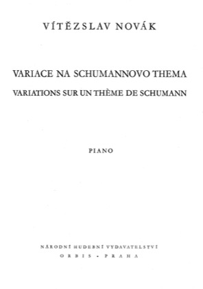 Thumbnail of first page of Variations on a Theme by Schumann piano sheet music PDF by Novak.