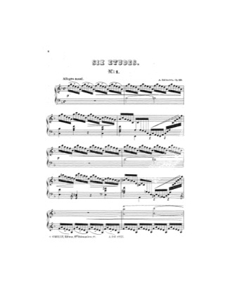 Thumbnail of first page of Etude No.1 piano sheet music PDF by Rubinstein.