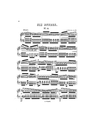 Thumbnail of first page of Etude No.2 piano sheet music PDF by Rubinstein.
