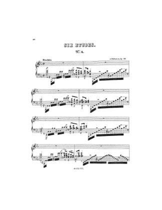 Thumbnail of first page of Etude No.4 piano sheet music PDF by Rubinstein.