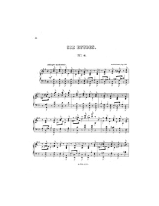 Print and download for free: Etude No.6 piano sheet music by Rubinstein.