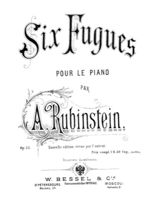 Thumbnail of first page of 6 Preludes and Fugues, Op.53 piano sheet music PDF by Rubinstein.