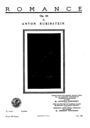 Thumbnail of first page of 6 Soirees a St. Petersburg, Op.44 piano sheet music PDF by Rubinstein.