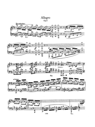 Print and download for free: Allegro, Op.8 piano sheet music by Schumann.
