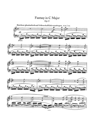 Thumbnail of first page of Fantasy, Op.17 piano sheet music PDF by Schumann.