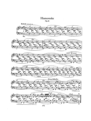 Thumbnail of first page of Humoreske, Op.20 piano sheet music PDF by Schumann.