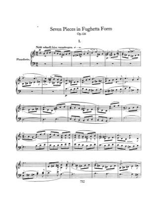 Thumbnail of first page of 7 Klavierstucke in Fughettenform, Op.126 piano sheet music PDF by Schumann.