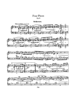 Thumbnail of first page of 4 Klavierstucke, Op.32 piano sheet music PDF by Schumann.