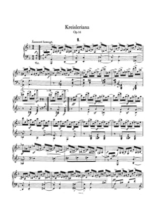Thumbnail of first page of Kreisleriana, Op.16 piano sheet music PDF by Schumann.