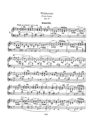 Thumbnail of first page of Waldszenen, Op.82 piano sheet music PDF by Schumann.