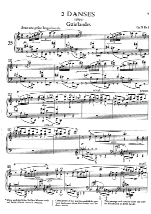 Thumbnail of first page of 2 Danses, Op.73 piano sheet music PDF by Scriabin.