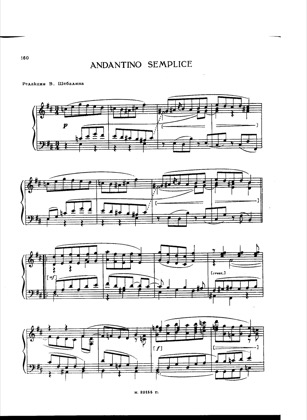 Thumbnail of first page of Andantino Semplice piano sheet music PDF by Taneyev.