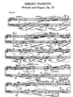 Thumbnail of First Page of Prelude and Fugue, Op.29 sheet music by Taneyev