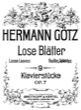 Thumbnail of First Page of 9 Lose Blatter, Op.7 sheet music by Goetz