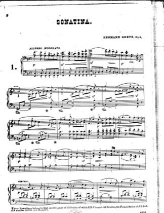 Thumbnail of first page of 2 Sonatinas, Op.8 piano sheet music PDF by Goetz.