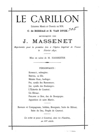 Thumbnail of first page of Le Carillon piano sheet music PDF by Massenet.