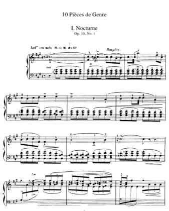 Thumbnail of first page of 10 Pieces de Genre piano sheet music PDF by Massenet.