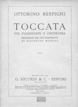Thumbnail of first page of Toccata piano sheet music PDF by Massenet.