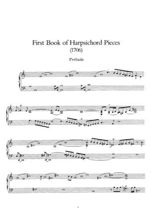 Thumbnail of first page of Premier Livre de Pieces de Clavecin piano sheet music PDF by Rameau.