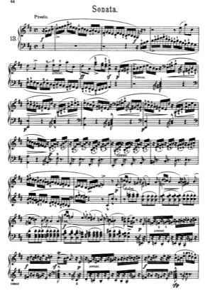 Thumbnail of first page of Pieces No. 13-15 piano sheet music PDF by Scarlatti.
