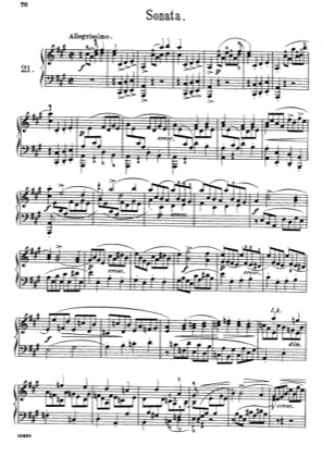 Thumbnail of first page of Pieces No. 21 piano sheet music PDF by Scarlatti.