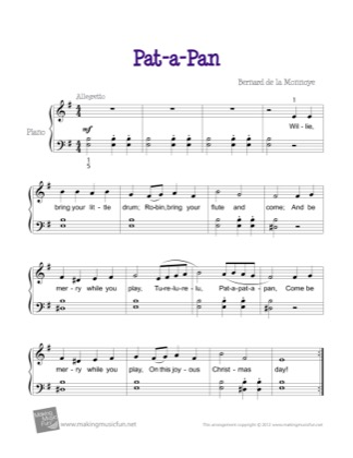 Thumbnail of first page of Pat-a-Pan piano sheet music PDF by Christmas.