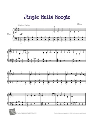 Thumbnail of first page of Jingle Bells Boogie piano sheet music PDF by Christmas.