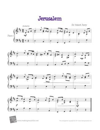 Thumbnail of first page of Jerusalem piano sheet music PDF by Kids.