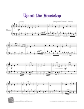 Thumbnail of first page of Up on the Housetop (3) piano sheet music PDF by Christmas.