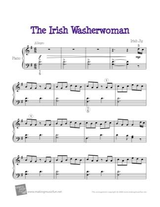 Thumbnail of first page of The Irish Washerwoman piano sheet music PDF by Kids.
