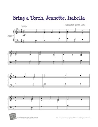 Thumbnail of first page of Jeannette, Isabella piano sheet music PDF by Kids.
