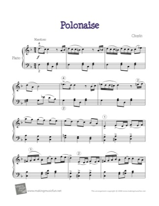 Thumbnail of first page of Polonaise Op. 53 (Heroic) piano sheet music PDF by Chopin.