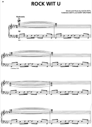 Thumbnail of first page of Rock Wit U piano sheet music PDF by Alicia Keys.