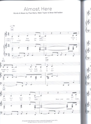 Thumbnail of first page of Almost Here piano sheet music PDF by Delta Goodrem and Brian McFadden.