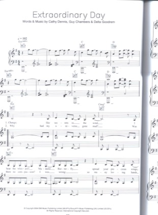 Thumbnail of first page of Extraordinary Day piano sheet music PDF by Delta Goodrem.