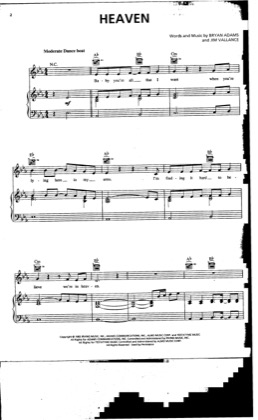 Thumbnail of first page of Heaven (2) piano sheet music PDF by Dj Sammy.