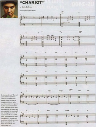 Thumbnail of first page of Chariot piano sheet music PDF by Gavin Degraw.