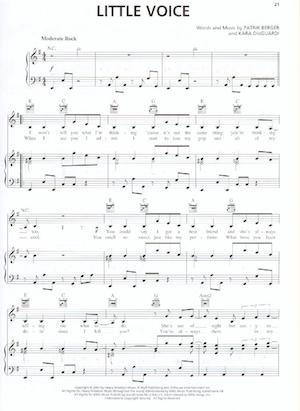 Thumbnail of first page of Little Voice piano sheet music PDF by Hilary Duff.