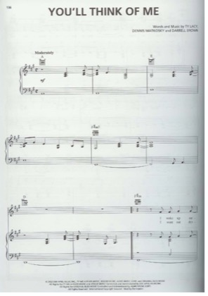 Thumbnail of first page of You'll Think Of Me piano sheet music PDF by Keith Urban.