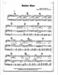 Thumbnail of First Page of Better Man sheet music by Robbie Williams