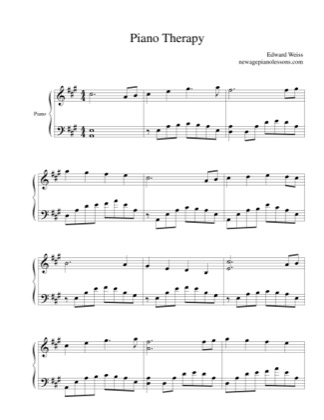 Thumbnail of first page of Piano Therapy piano sheet music PDF by Edward Weiss.