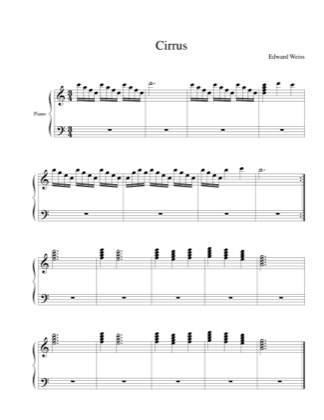 Thumbnail of first page of Cirrus piano sheet music PDF by Edward Weiss.
