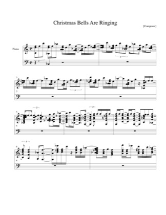 print and download for free christmas bells are ringing piano sheet music by christmas - Free Christmas Piano Sheet Music
