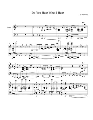 Thumbnail of first page of Do You Hear What I Hear piano sheet music PDF by Christmas.