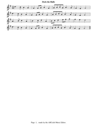 Thumbnail of first page of Deck The Halls (easy) piano sheet music PDF by Christmas.