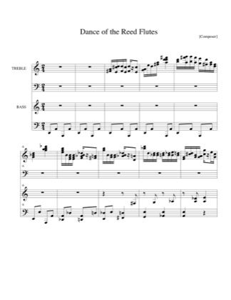 Thumbnail of first page of Dance of the Reed Flutes piano sheet music PDF by Christmas.