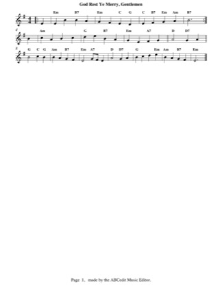 Thumbnail of first page of God Rest Ye Merry, Gentlemen piano sheet music PDF by Christmas.